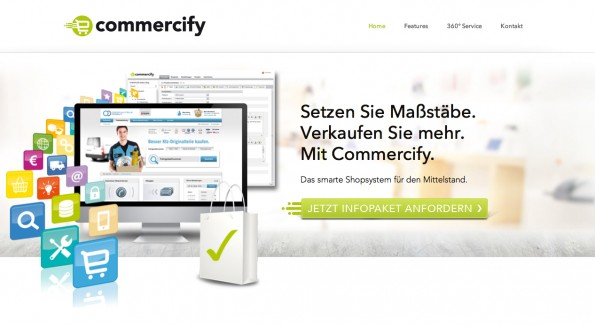 E-Commerce-Plattform Commercifiy (Screenshot: AACID21)