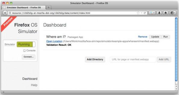 Firefox OS: Im Simulator kann man Apps testen und debuggen. (Bild: Mozilla)