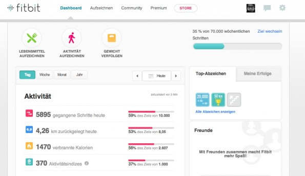 fitbit-flex-dashboard
