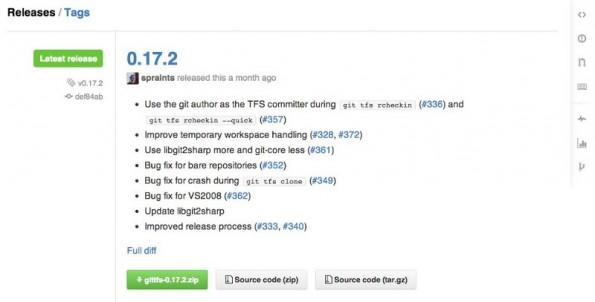 GitHub Releases bietet Workflow zur Ausliferung von Software an den Endanwender. (Screenshot: GitHub)