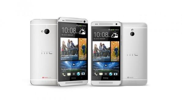 HTC One und One Mini: Rechts im Bild die kleinere Smartphone-Variante. (Bild: HTC)