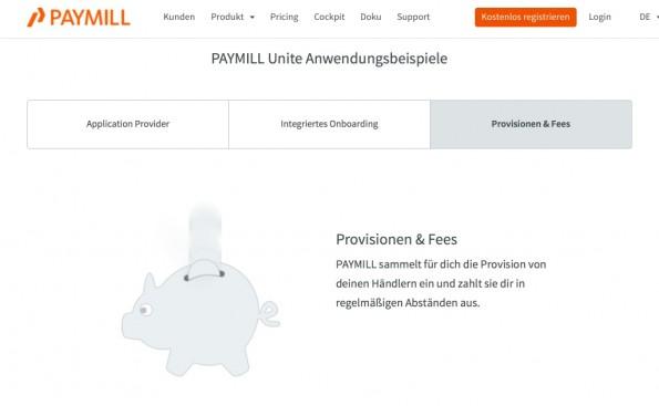 E-Commerce: Paymill Unite will Mrktplatz-Zahlungen ermöglichen (Screenshot: Paymill)
