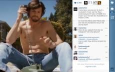 """Vertont wurde der Instagram-Spot zu """"jobsthefilm"""" mit der legendären """"jThink-Different"""" -Kampagne. (Screenshot: Instagram)"""