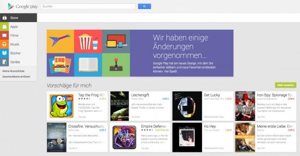 Hat erst vor kurzem ein Redesign bekommen: Der Google-Play-Store. (Screenshot: play.google.com)
