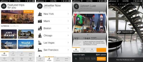 Sieht nach Luxus aus – und manchmal empfiehlt sie auch genau das: die Jetsetter-App. (Screenshot: iTunes)