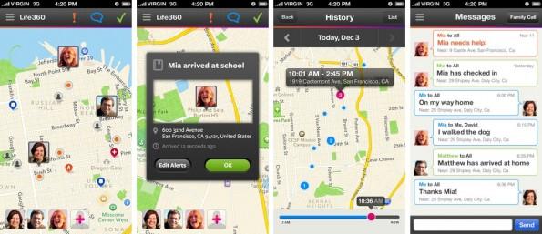 Mit Life360 weiß du immer, wo deine Familie oder deine Freunde gerade sind. (Screenshot: iTunes)