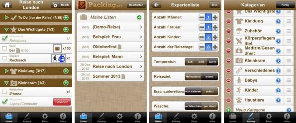Packing Pro will dafür sorgen, dass man nie wieder vergisst, etwas einzupacken. (Screenshot: iTunes)