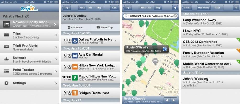 TripIt ist derzeit eine der besten Allround-Reise-Apps auf dem Markt. (Screenshot: iTunes)