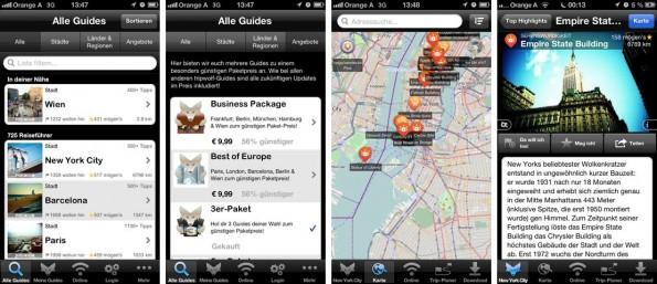 Tripwolf bietet Reiseführer und Tipps für viele Länder, Regionen und Städte. (Screenshot: iTunes)