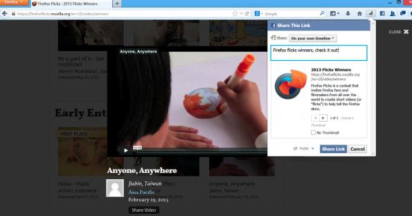 Überall teilen: der Share-Button machts möglich(screenshot: thenextweb.com)