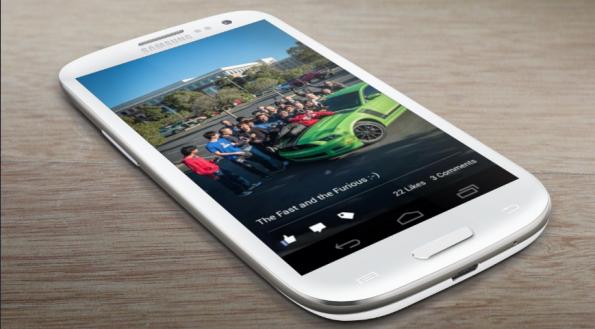 Die aktualisierte Facebook-App für Android kommt mit dem Cover-Feed aus Home daher. (Bild: placeit.breezi / FFaceboo App, Google Play)