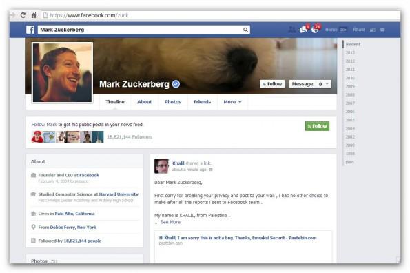 """Khalil Shreateh nutzt Sicherheitslücke auf Facebook, um Zuckerbergs Privatsphäre zu hacken: """"Ich hatte keine andere Wahl, nachdem ich all die Berichte ans Facebook-Team schickte."""" (Bild: khalil-sh.blogspot.co.uk/)"""