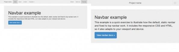 Bootstrap 3: Ein Beispiel für responsives Webdesign. (Screensghots: Bootstrap)