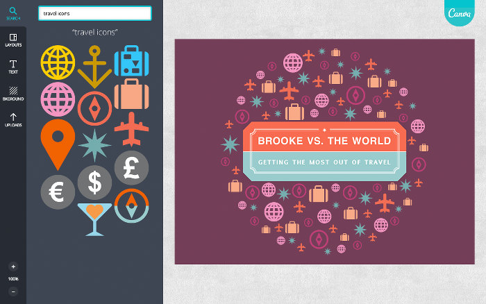 Unzählige Grafiken, Schriftarten und Bilder stehen Nutzern zu Verfügung. (Screenshot: Canva)