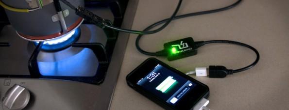 Grand St.: Dieses Gerät aus dem Shop lädt euer Smartphone an einer offenen Flamme auf. (Bild: Grand St.)