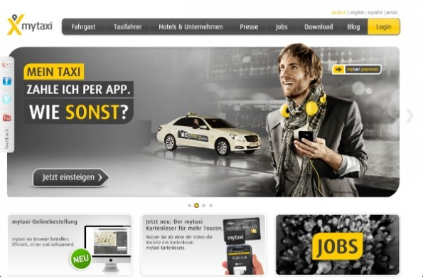 MyTaxi verwandelt Taxis in Lieferdienste. (Screenshot: MyTaxi)