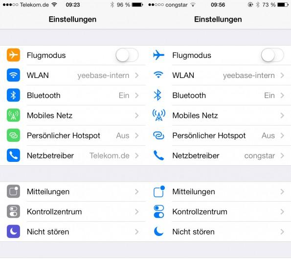 Alle Icons in den Systemeinstellungen wurden farblich deutlich überarbeitet. In Beta 5 (links) lassen sich die Icons wesentlich besser unterscheiden.