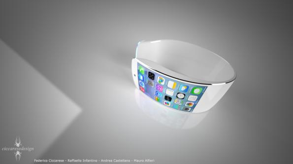 Das neueste Konzept einer iWatch kommt aus Italien und zeigt eine extrem schicke Smartwatch, auf der iOS 7 läuft. (Bild: Ciccarese Design)
