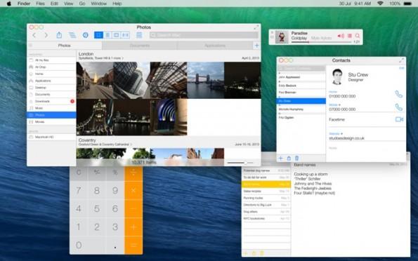 OS X Mavericks: So könnte es im Flat Design aussehen. (Bild: Stu Crew / 9to5mac)