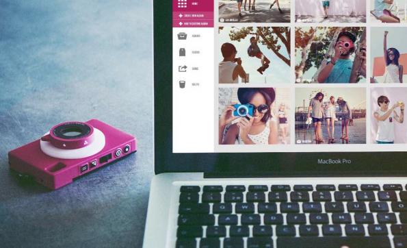 Neben der Möglichkeit, Fotos direkt auf soziale Netzwerke hochzuladen, bietet theQ auch unbegrenzten Cloud-Speicher für Bilder. (Bild: theQ)
