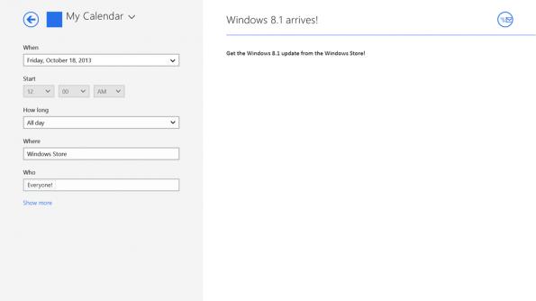 Windows 8.1 wird ab 17. Oktober um 13 Uhr deutscher Zeit kostenlos über die Update-Funktion von Windows 8 verteilt.