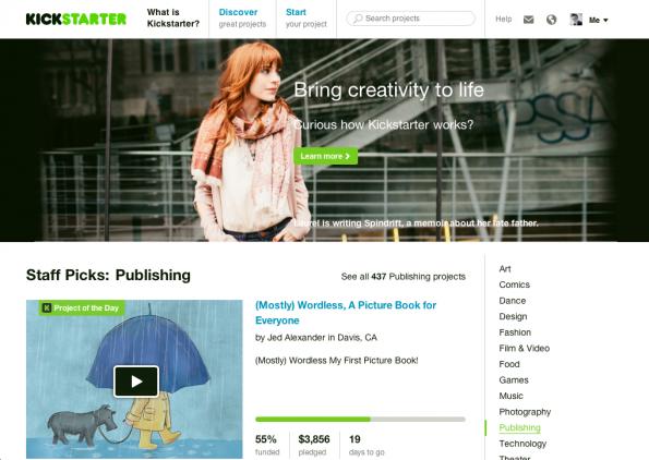 Mit 612 Millionen US-Dollar in fünf Jahren ist Kickstarter Branchenprimus. (Foto: Screenshot)