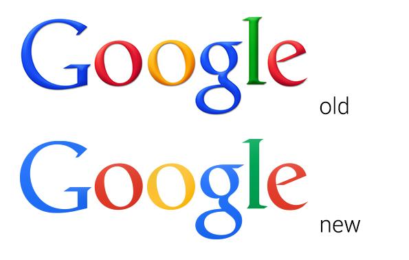 Das Google-Logo ohne Schattierungen, räumlicher Tiefe und Farbverläufe. (Screenshot: The Next Web)