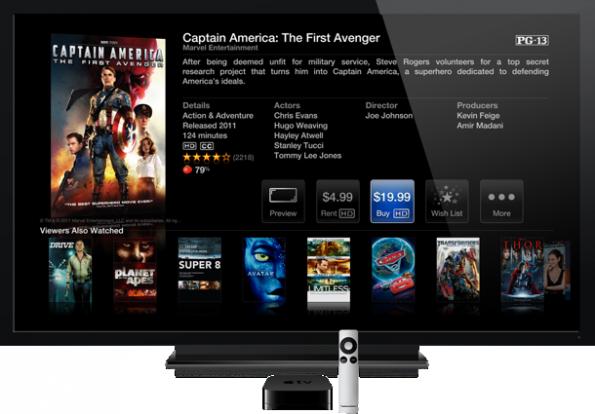 Apple TV: Mit der kleinen schwarzen Box verfolgt Apple bisher eine mehr als schlanke Strategie im TV-Bereich.