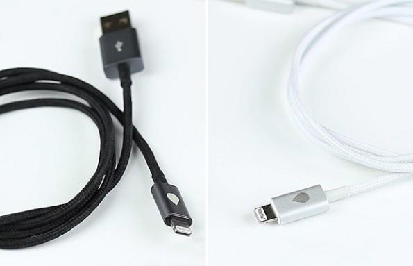 """Die """"Juicies+""""-Kabel kommen in Schwarz und Weiß/Silber. Optisch orientieren sie sich an Hign-End-Smartphones wie iPhone 5, HTC One oder Samsung Galaxy S4. (Foto: Juicies)"""