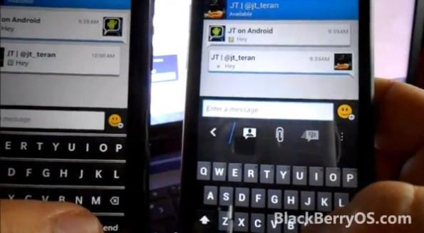 """BlackBerry Messenger Protected: Mit einer Ende-zu-Ende-Verschlüsselung und symmetrischen Schlüsselverfahren will sich BlackBerry am Markt für """"Privacy""""-Messenger etablieren. (Foto: BlackBerry OS.com)"""