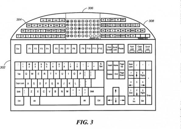 Patent: Tastatur für alle die keine Zeit für Sonderzeichenkombinationen haben. (Bild: US-Patentamt)