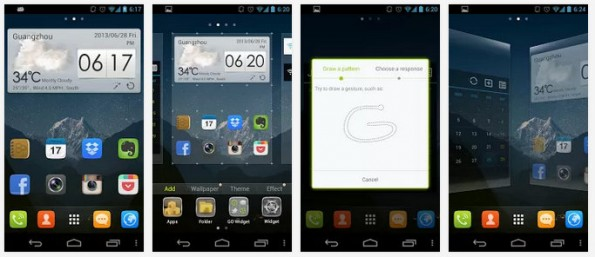 Go Launcher Ex gehört ebenfalls zu den bekanntesten Apps seiner Art. (Screenshots: Google Play Store)