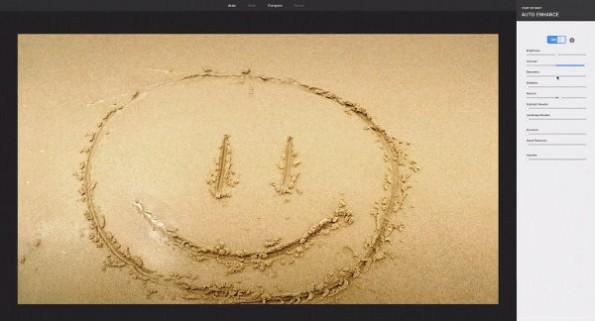 Snapseed: Google+ erweitert Möglichkeiten zur Bildbearbeitung. (Screenshot: YouTube)