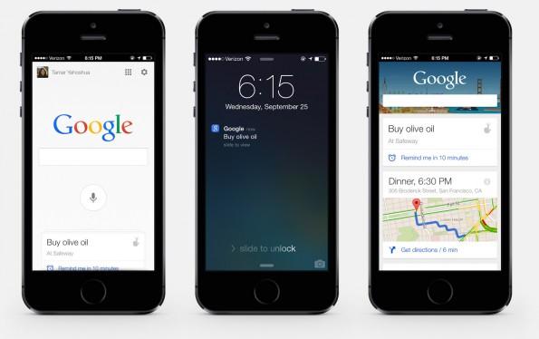 Die Android-App bekommt Neuerungen bei der Sprachsuche und iOS bekommt Notifications für Google Now.