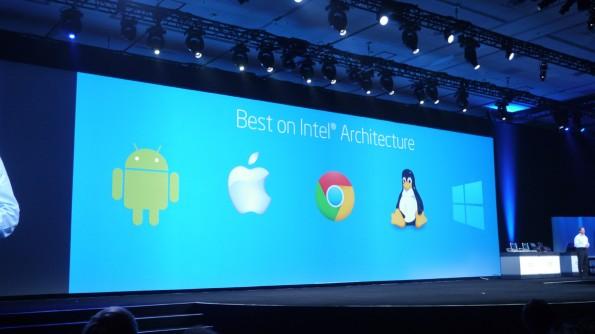 Die Bay-Trail-SoCs können ohne Änderung an der Hardware mit Windows und Android funktionieren.