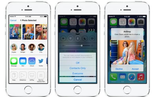 iOS 7: Ihr könnt den Akku schonen, indem ihr beispielsweise AirDrop nur aktiviert, wenn ihr es benötigt. (Bild: Apple)