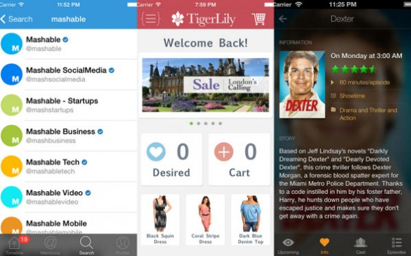 iOS 7: Mehr und mehr Apps entsprechen dem neuen Interface-Look. (Screenshots: Steve Streza / Tumblr)
