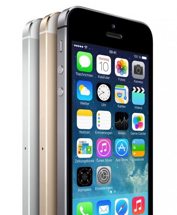 Das iPhone 5s unterscheidet sich optisch kaum vom Vorgänger.