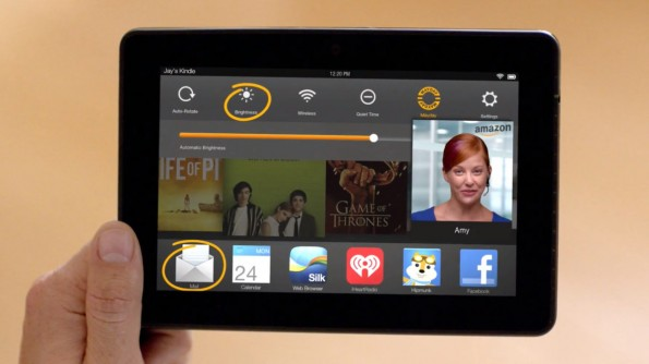 Das Kindle Fire HDX.