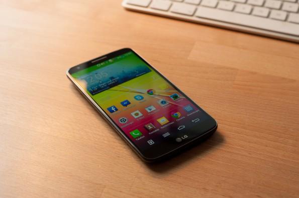 Vor allem mit seinem Display kann das LG G2 punkten.