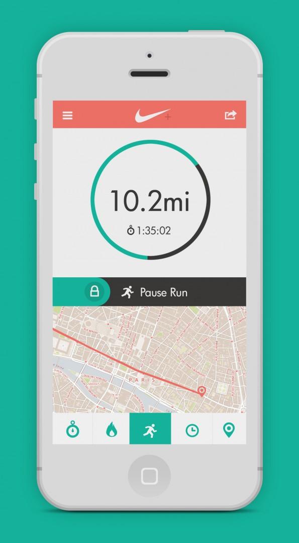 nike-run-app-flat-design