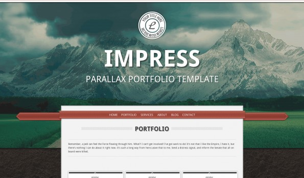 Parallax Theme: Impress