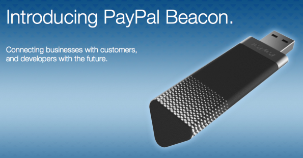 Der Bluetooth-Dongle für Paypal-Beacon. (Screenshot: Paypal)