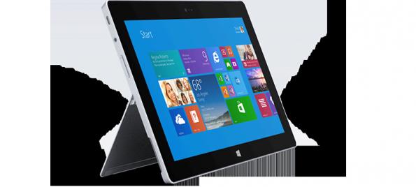 Das Surface 2 ist etwas dünner geworden und verfügt nun über einen Quad-Core-Tegra-4-Prozessor.