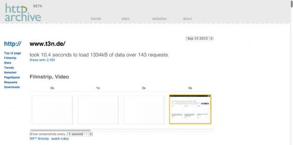HTTP Archive: Die Möglichkeiten zum Export der Daten sind beispielhaft. (Screenshot: HTTP Archive)