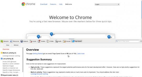 PageSpeed Insights: Googles Alternative zu JSlow. (Screenshot: Google Chrome Web Store)