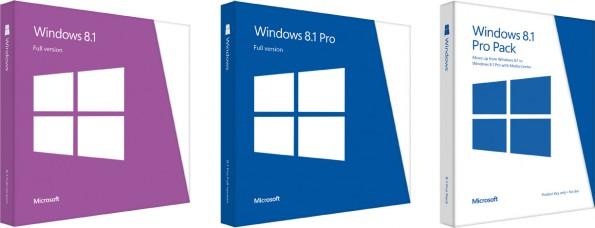 So sieht die fertige Verpackung von Windows 8.1 aus.