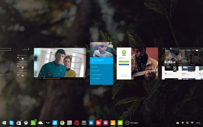 Windows-9-Konzept: So wechselt man zwischen verschiedenen Programmen. (Bild: Jerry Jäppinen)