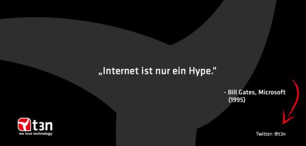 """Der Knüller unter den krasseste Fehlprognosen stammt von Bill Gates: """"Das Internet ist nur ein Hype"""""""