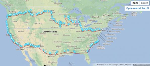 Sensible Daten im Netz: Lokalisierte Tweets helfen Bewegungsprofile zu zeichnen. (Screenshot: Tweeted Trips)
